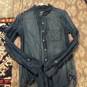 Mossimo Chambray Shirt Size Medium